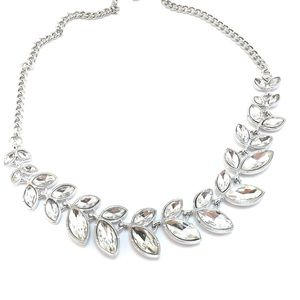 Jewelry - Crystal Leaf Occasion Crystal Necklace